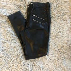 H&M faux leather pants skinny